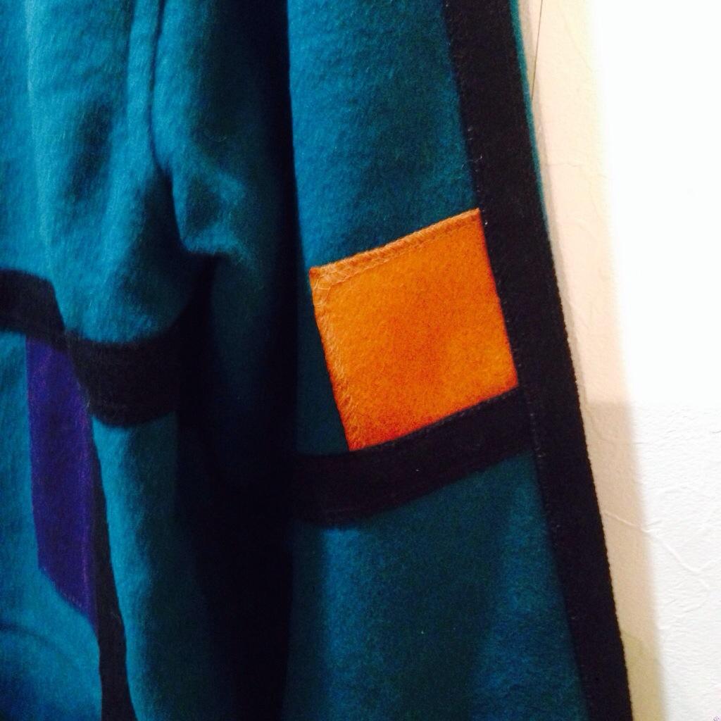 カラーブロックが◎なスタンドカラーのウールジャケット メンズ レディース 商品入荷