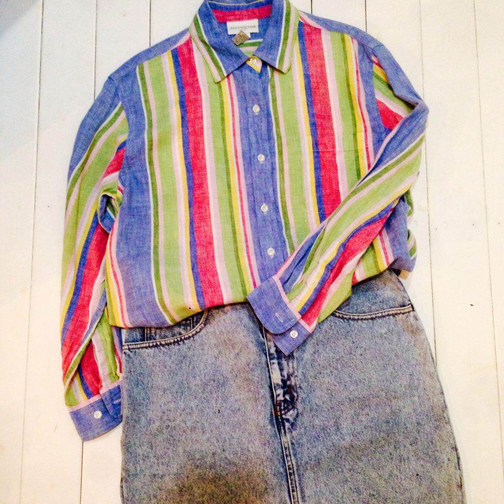 JONES NEW YORKのストライプリネンシャツ!! メンズ レディース 商品入荷