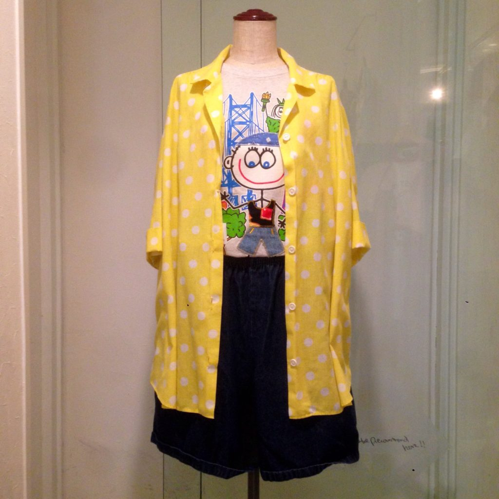 水玉のシャツ&スタイリング!! コーディネート レディース 商品入荷