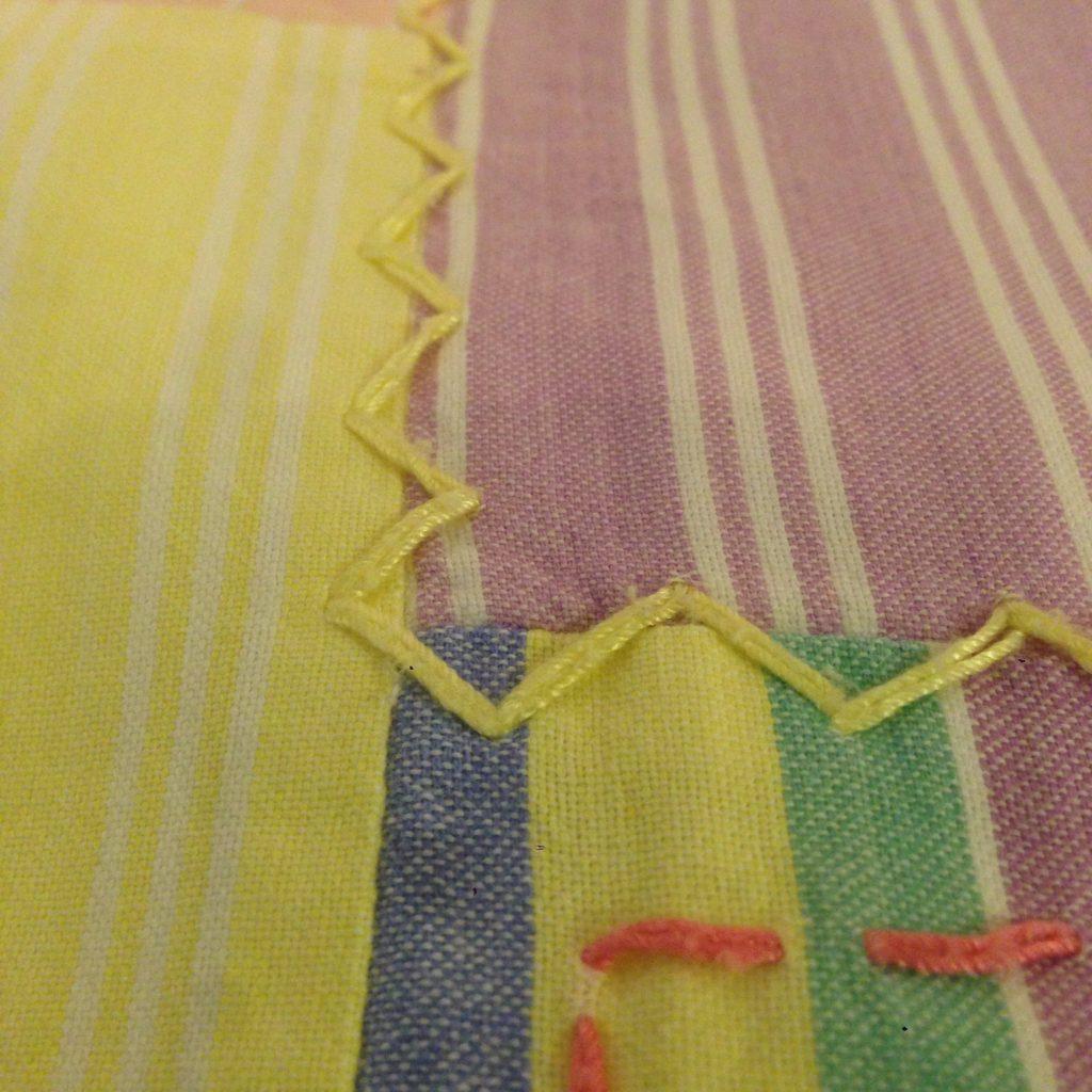 パステルストライプ切替と網網で編み編みなカットソー!! メンズ レディース 商品入荷