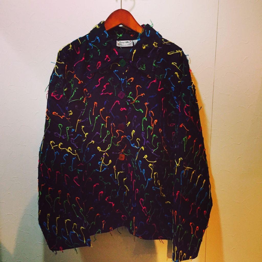 カラフルな総刺繍糸ジャケット!! メンズ レディース 商品入荷