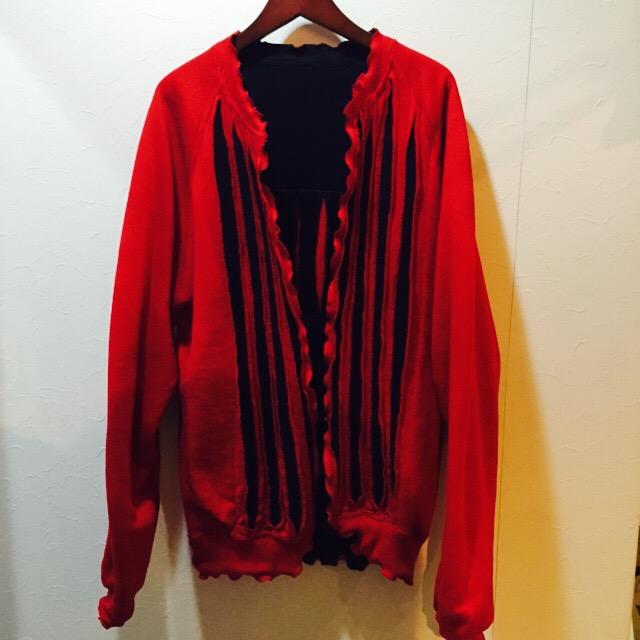 赤✖️黒な切り裂きデザインスウェット!! メンズ レディース