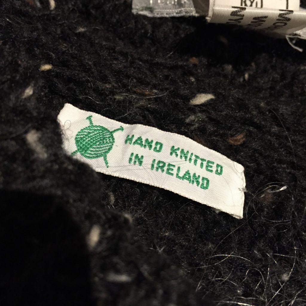 アイルランド製牧場柄モヘア混ハンドニットカーディガンの巻!! メンズ レディース