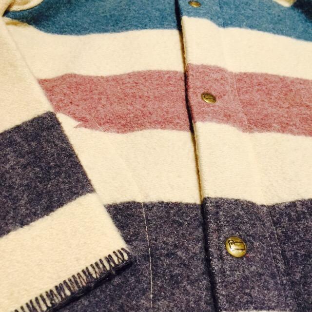 80S ウールリッチのボーダーウールジャケットの巻!! メンズ レディース