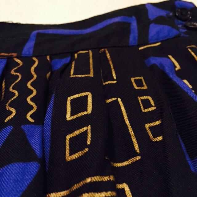幾何学模様なタックインスカートの巻!! レディース