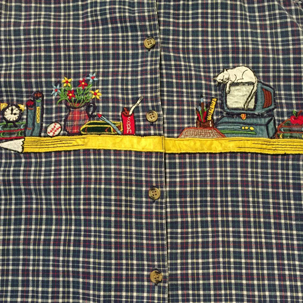 チェック柄刺繍シャツの巻!! メンズ レディース