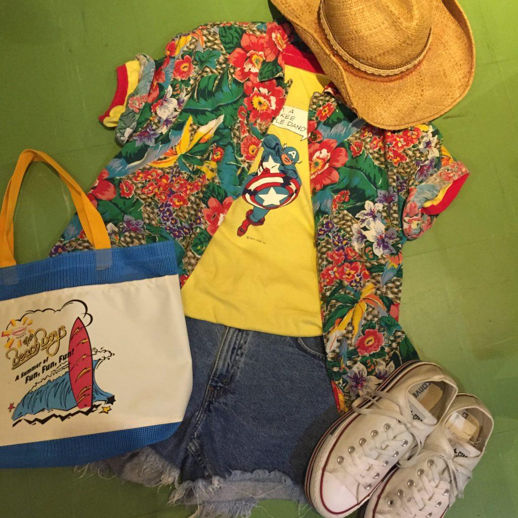 Liz wearトロピカルなフラワーパターンシャツの巻!! レディース