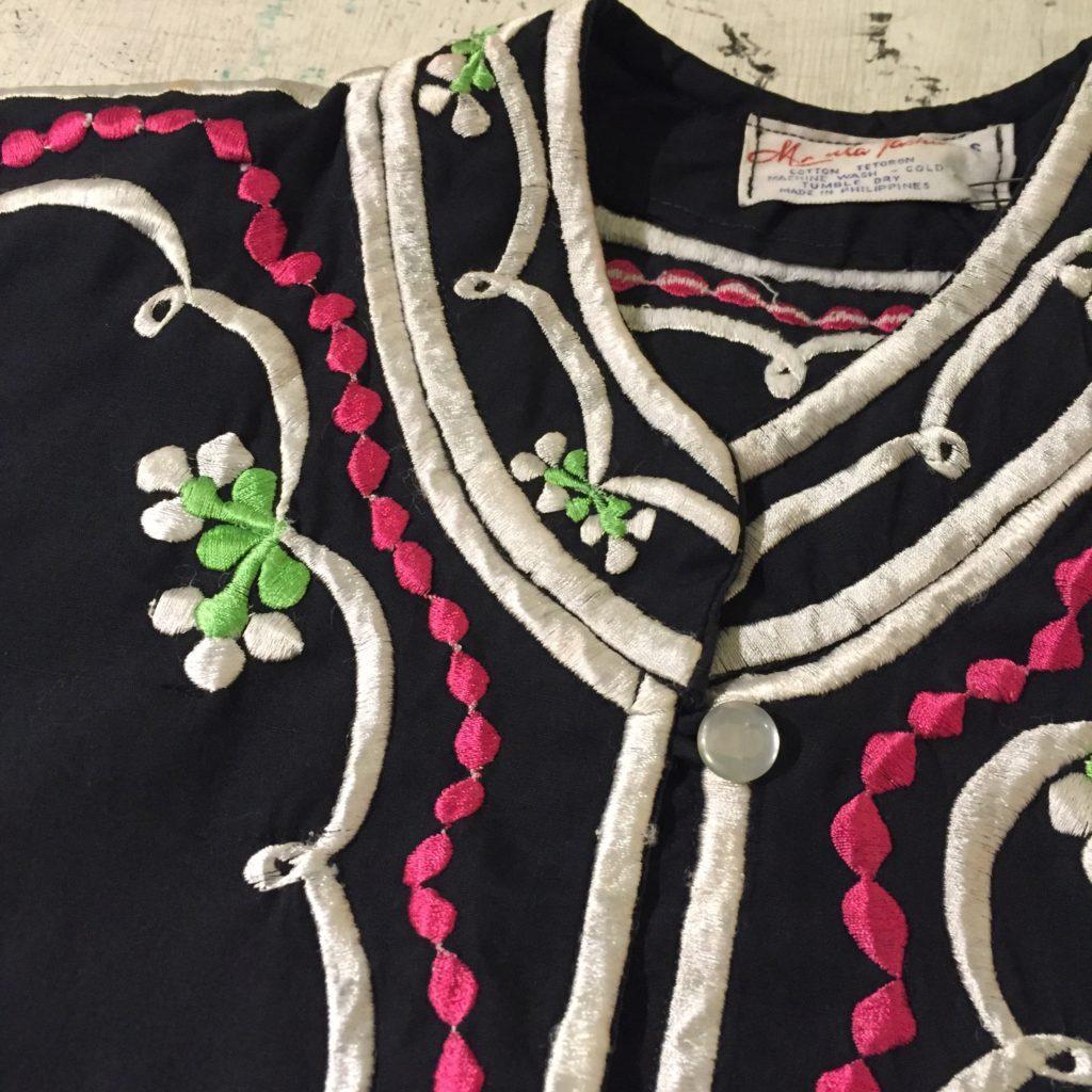 OLD刺繍チャイナデザインシャツその2の巻!! レディース