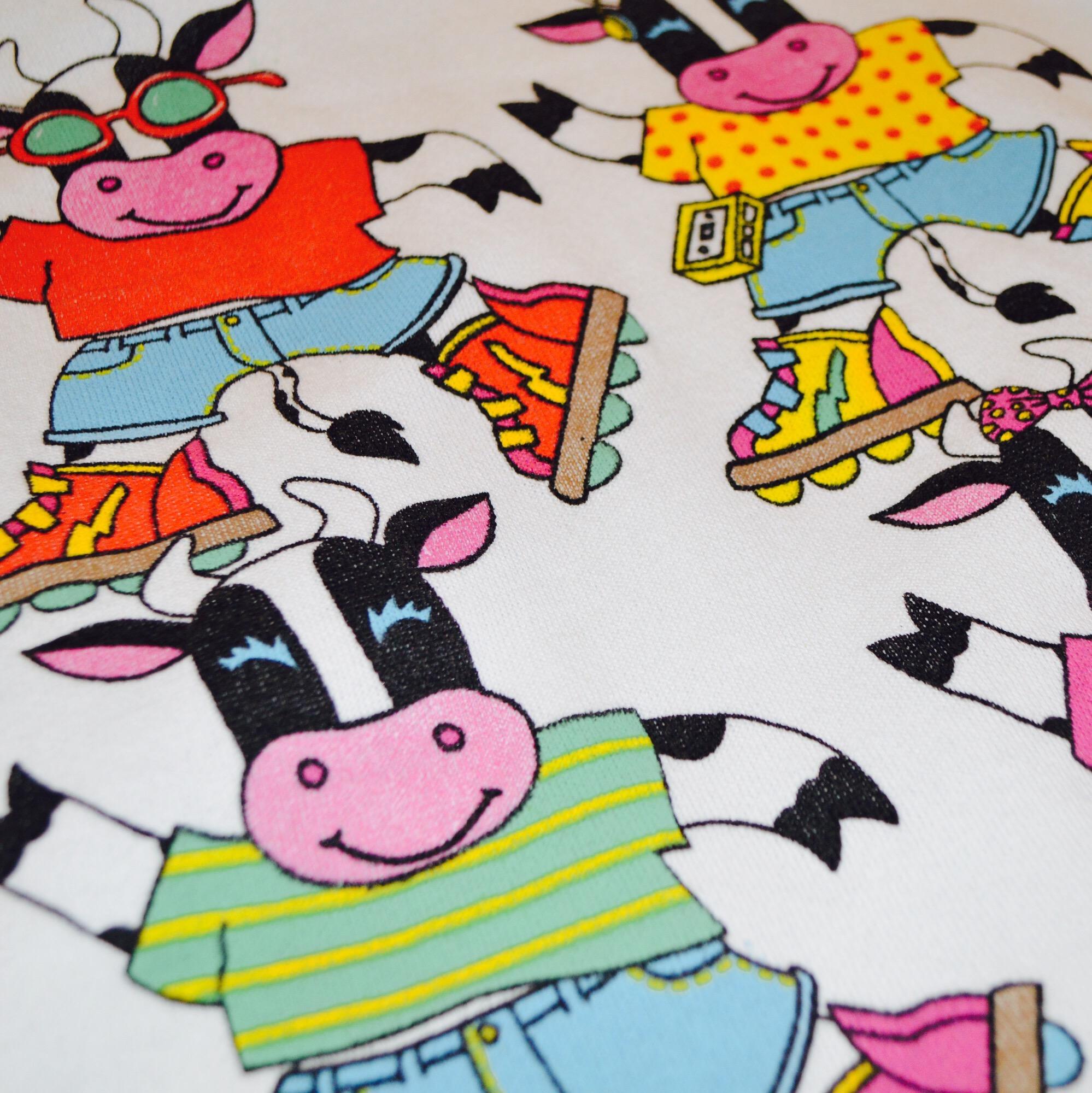 90S〜 USA製 牛さんスウェット!! レディース