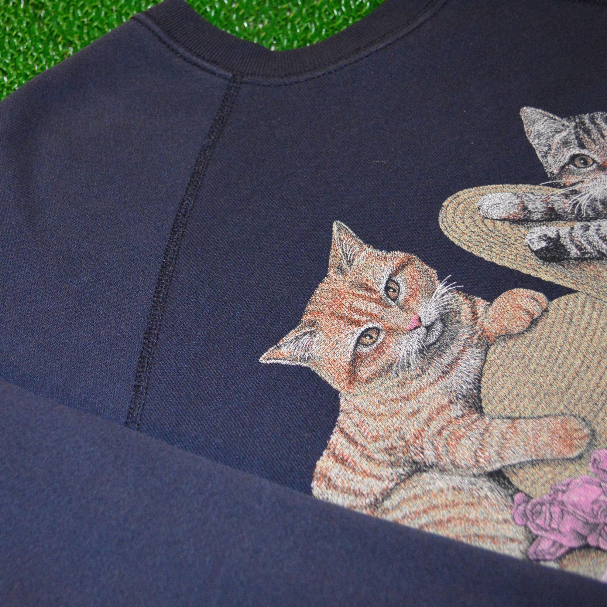 BigSize!! 90S TULTEX 猫スウェット!! レディース