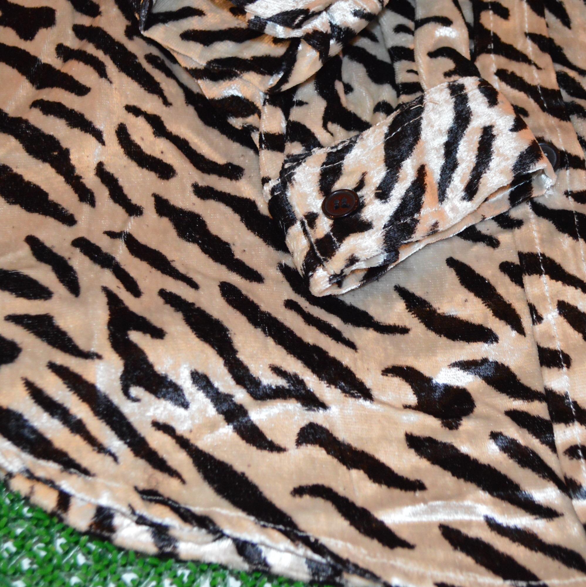 OLD INDIA Zebra柄ベロアシャツ!! メンズ レディース