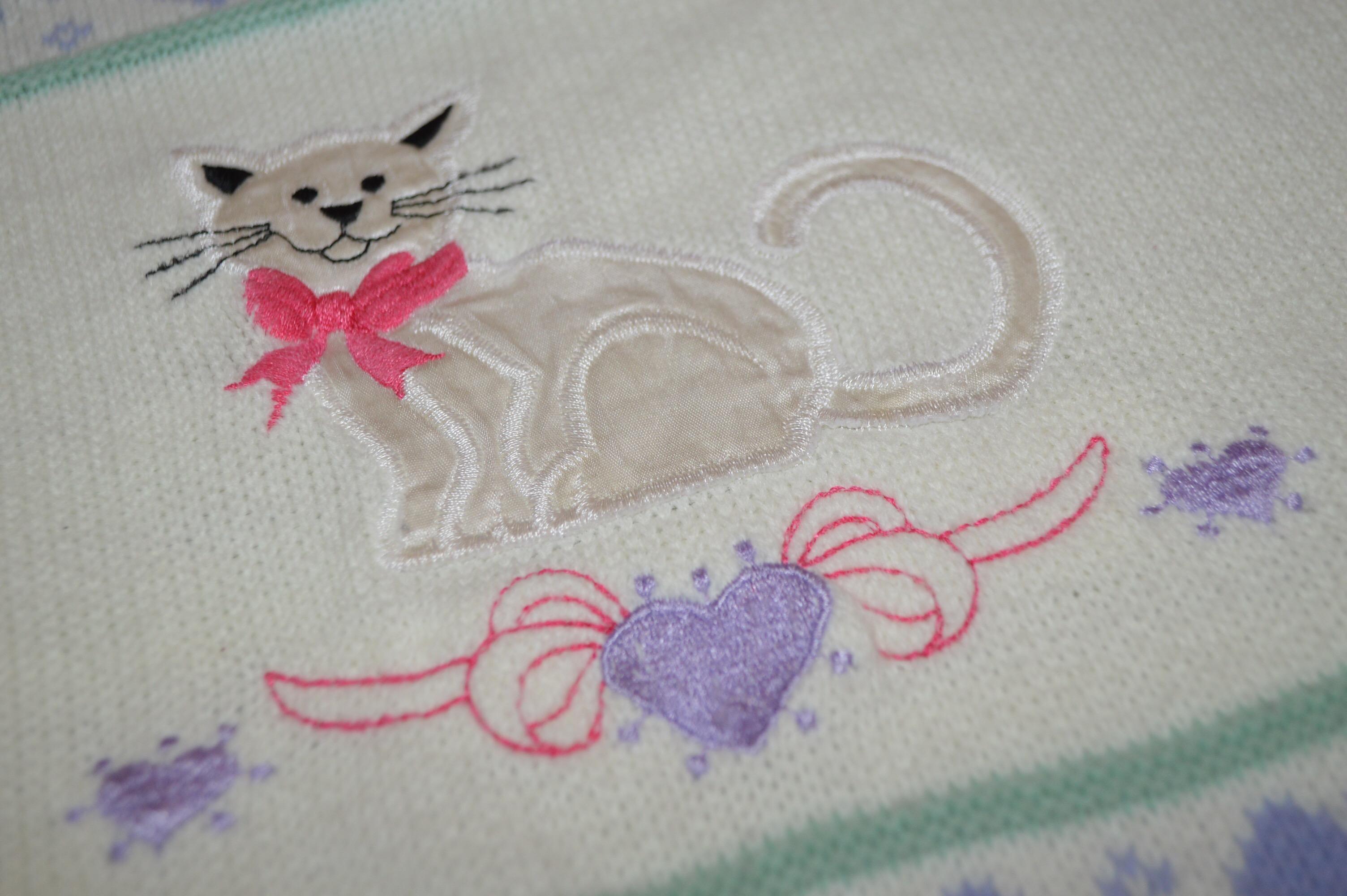 ラブリーな猫ちゃんアクリルニットセーター!! レディース
