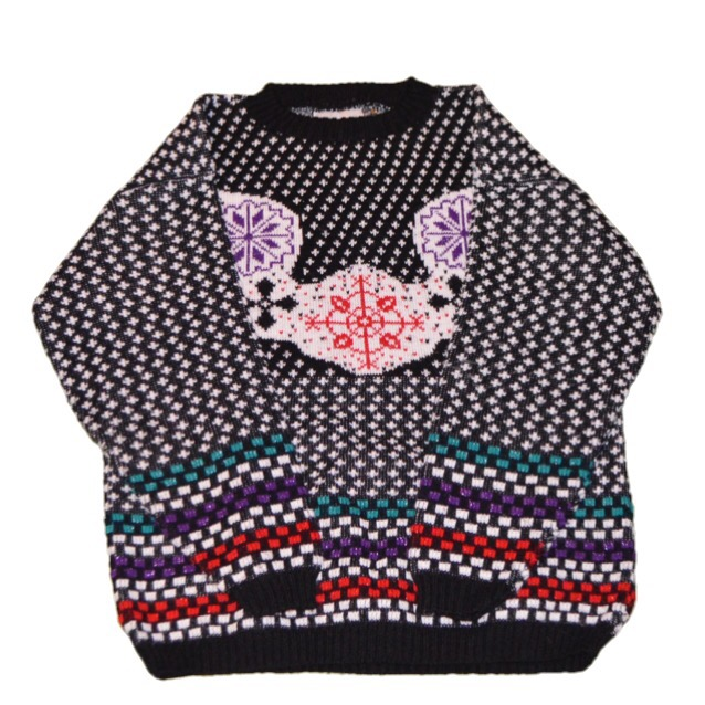 USA製 雪の結晶柄 ニットセーター!! レディース