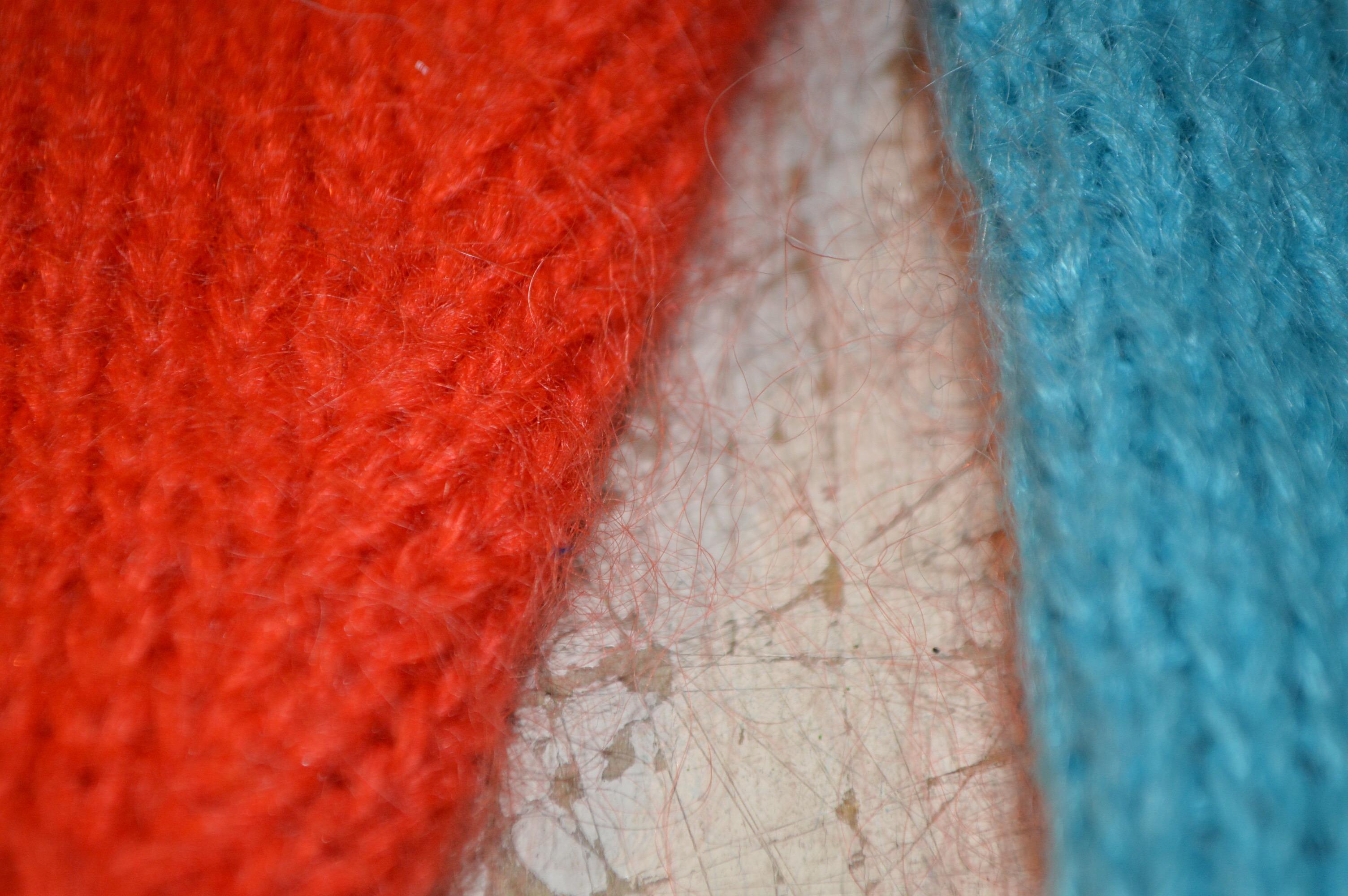 カラフルなモヘア混ニットセーター!! レディース