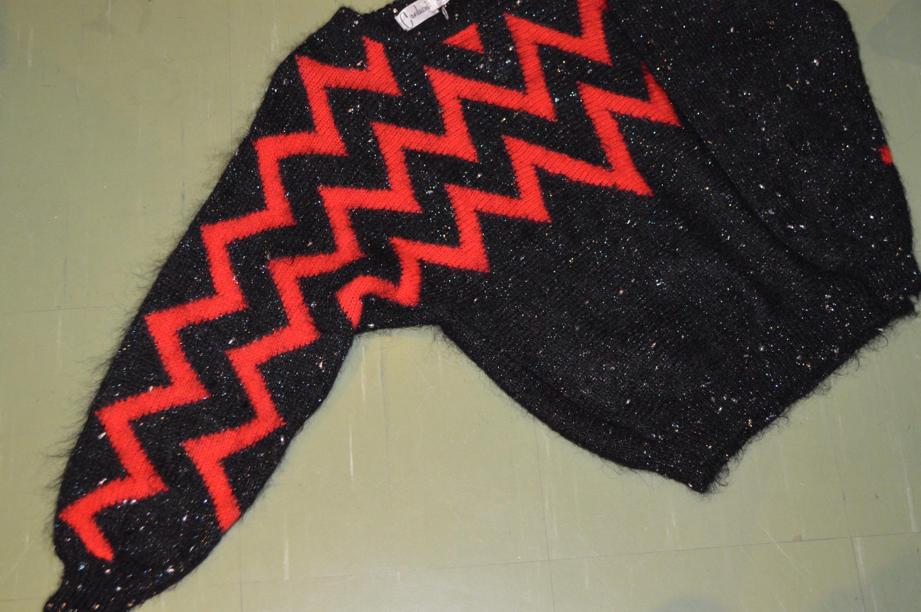 ギザギザデザインなMOHAIRニットセーター!! メンズ レディース