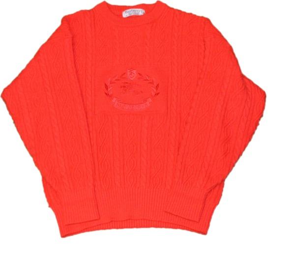OLD Burberrys 刺繍ニットセーター!! メンズ レディース