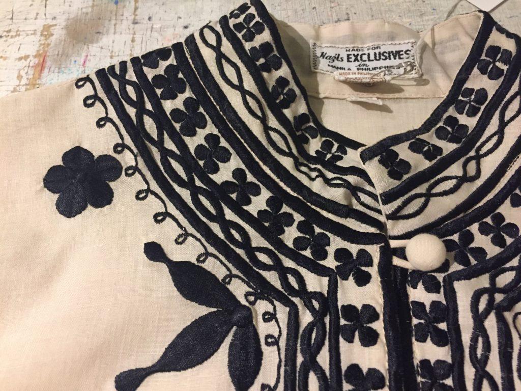 刺繍 チャイナデザインシャツ!! レディース