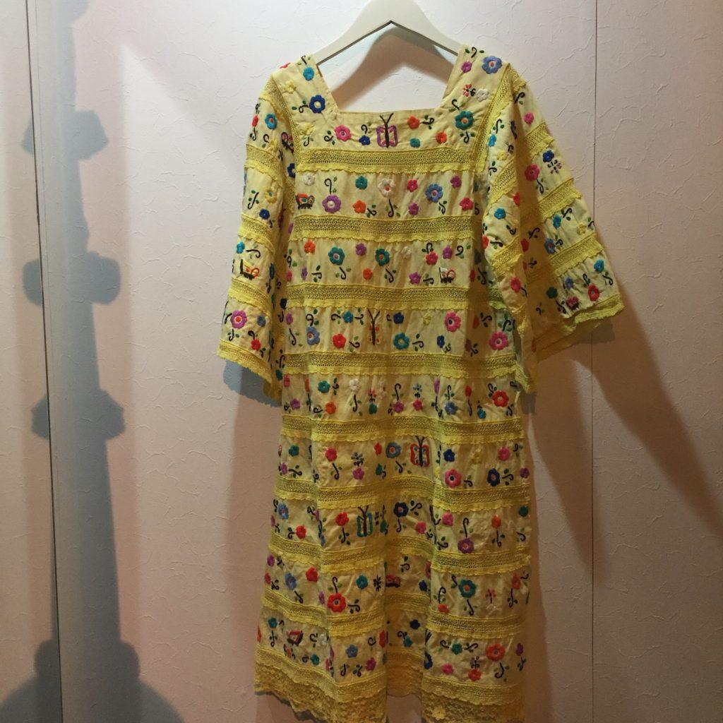 Amazing!! 70S- 手刺繍×レース ワンピース!! レディース