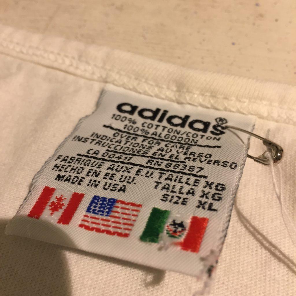 古着 adidas 90s USA製 トレフォイルプリント ノースリーブ ユニセックス