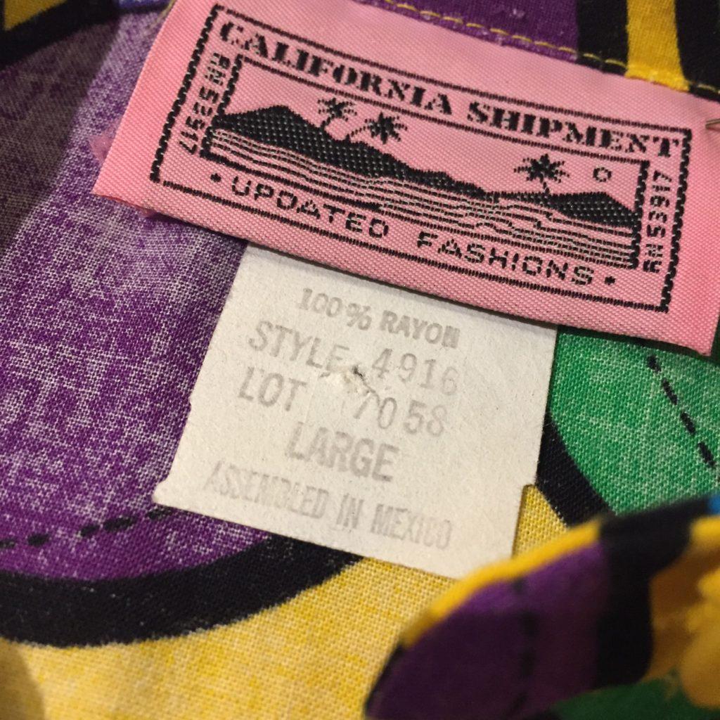古着 シャツ 80s 総柄レーヨン ユニセックス