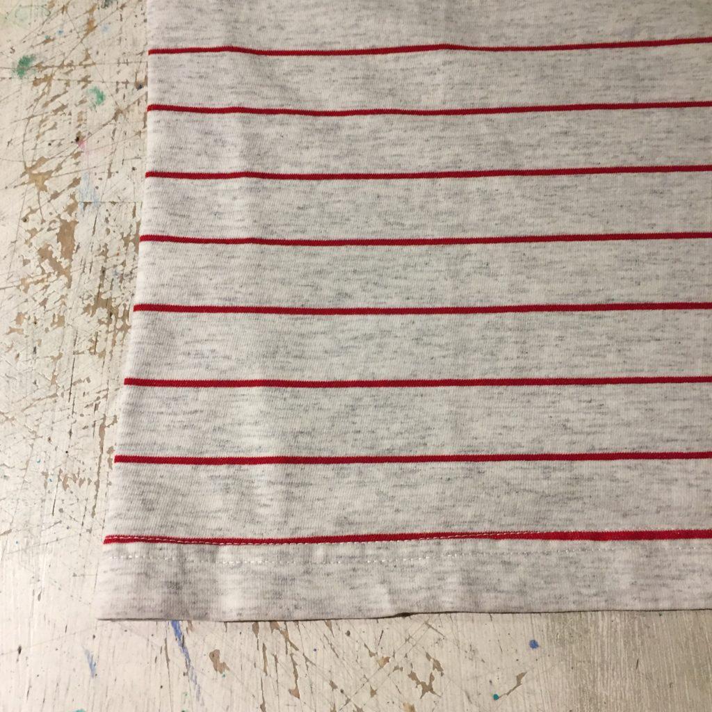 古着 Tシャツ 刺繍×ボーダー CANADA製 ユニセックス