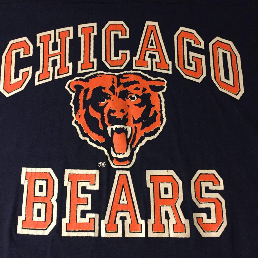 古着 フットボールTee CHICAGO BEARS USA製 レディース