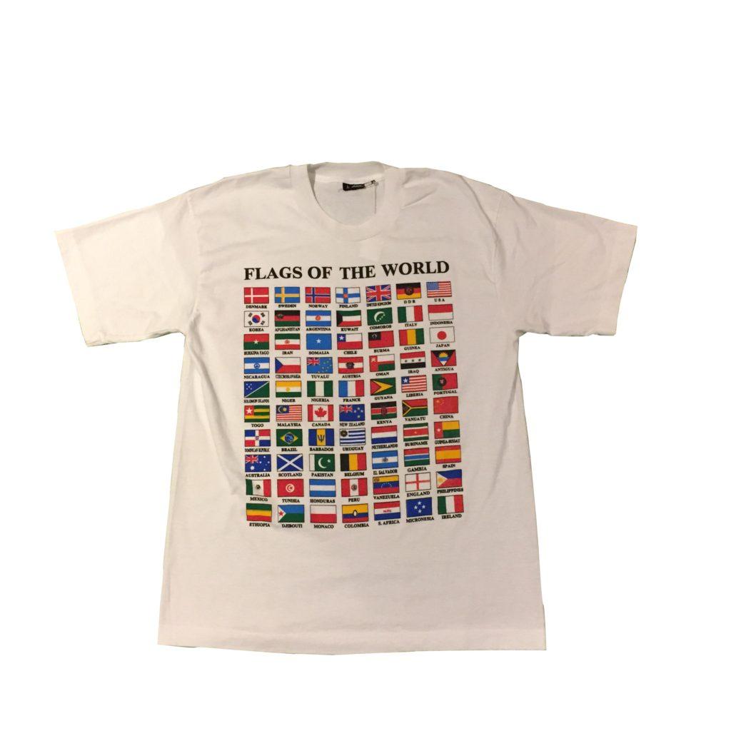 古着 Tシャツ 90s WorldFlags ユニセックス