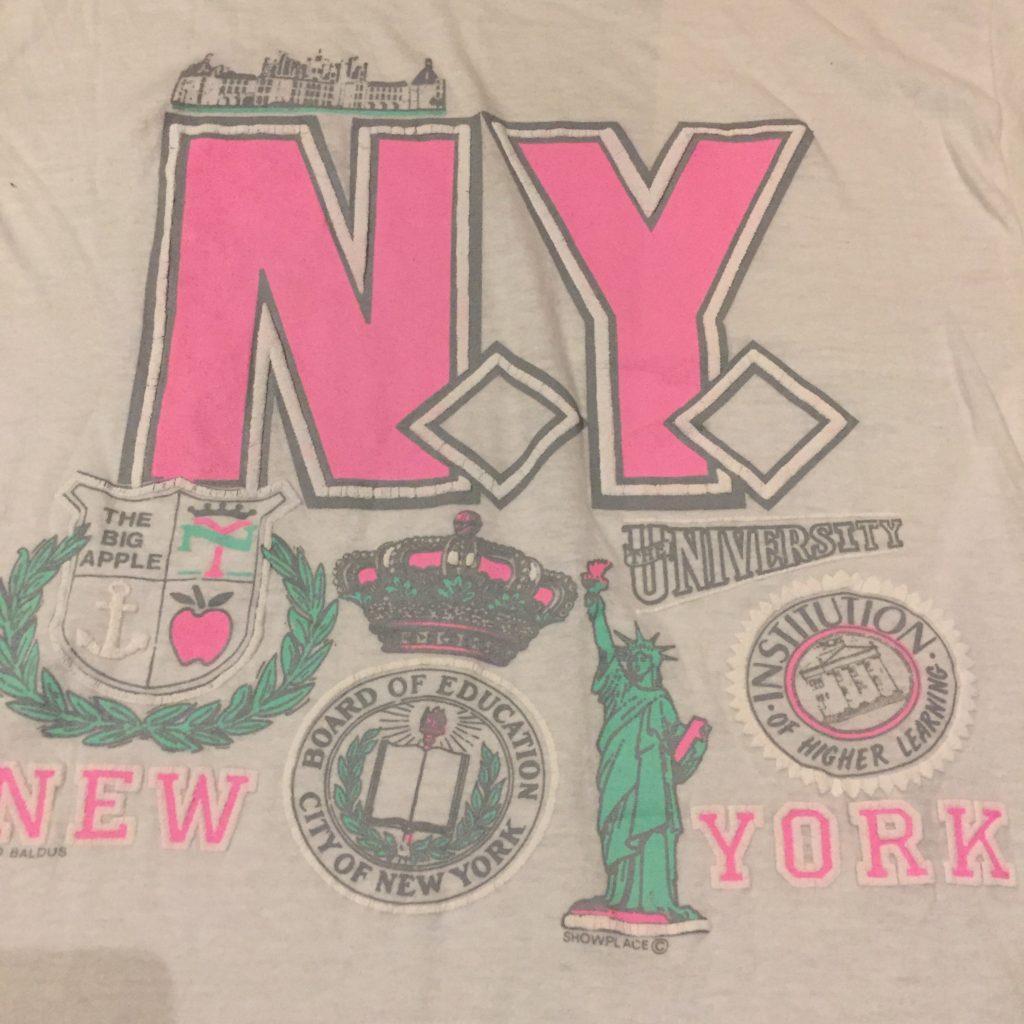 古着 Tシャツ 80s パステル NY レディース