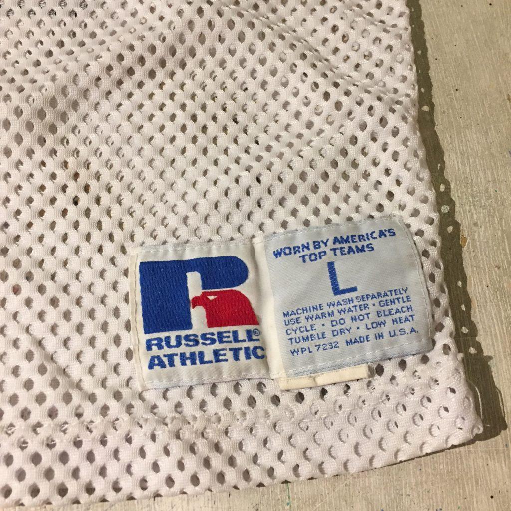 古着 フットボールシャツ 80s- メッシュ RUSSELL USA製 ユニセックス