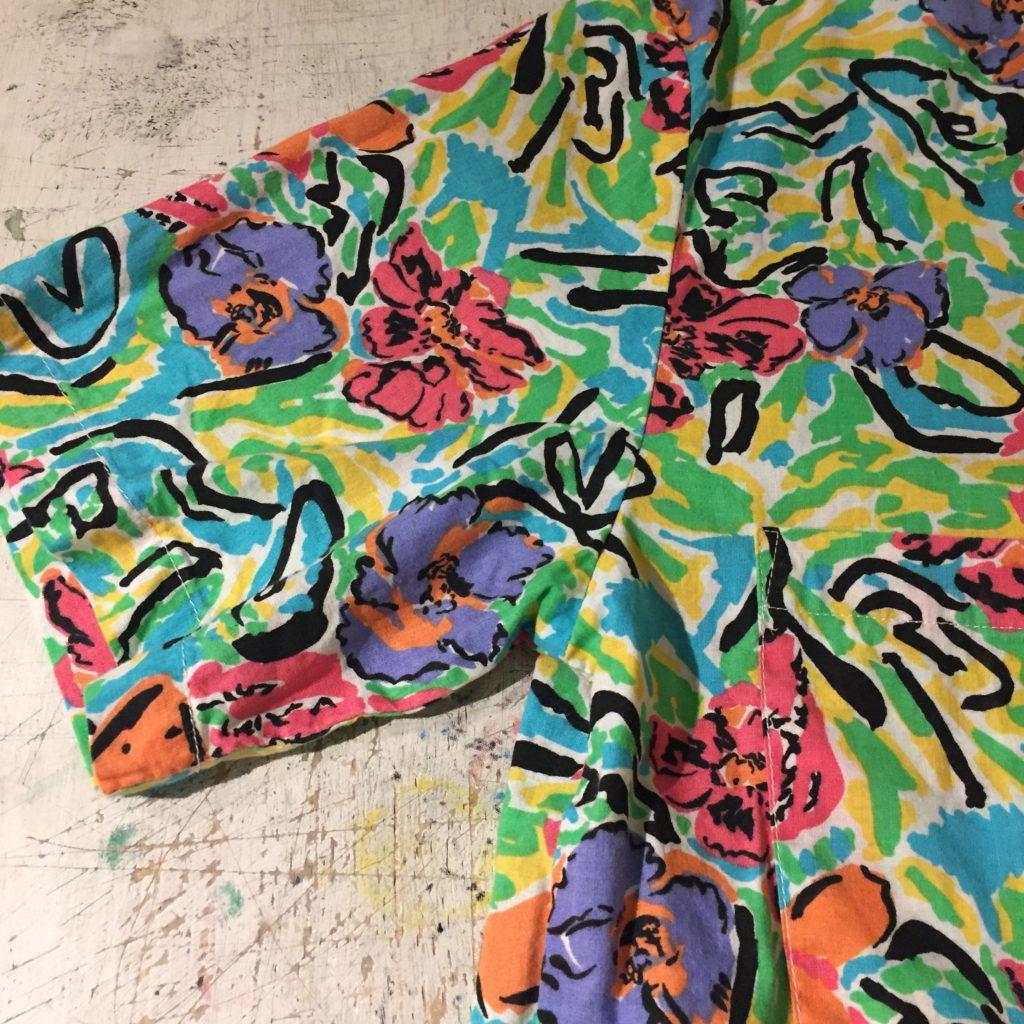 古着 シャツ 80s- USA製 花柄 レディース