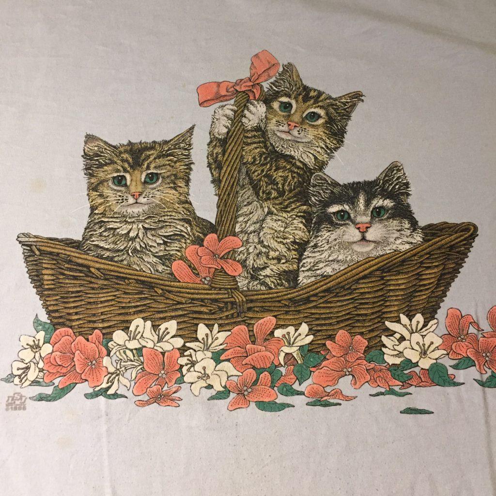 古着 Tシャツ 猫 90s- USA製 レディース
