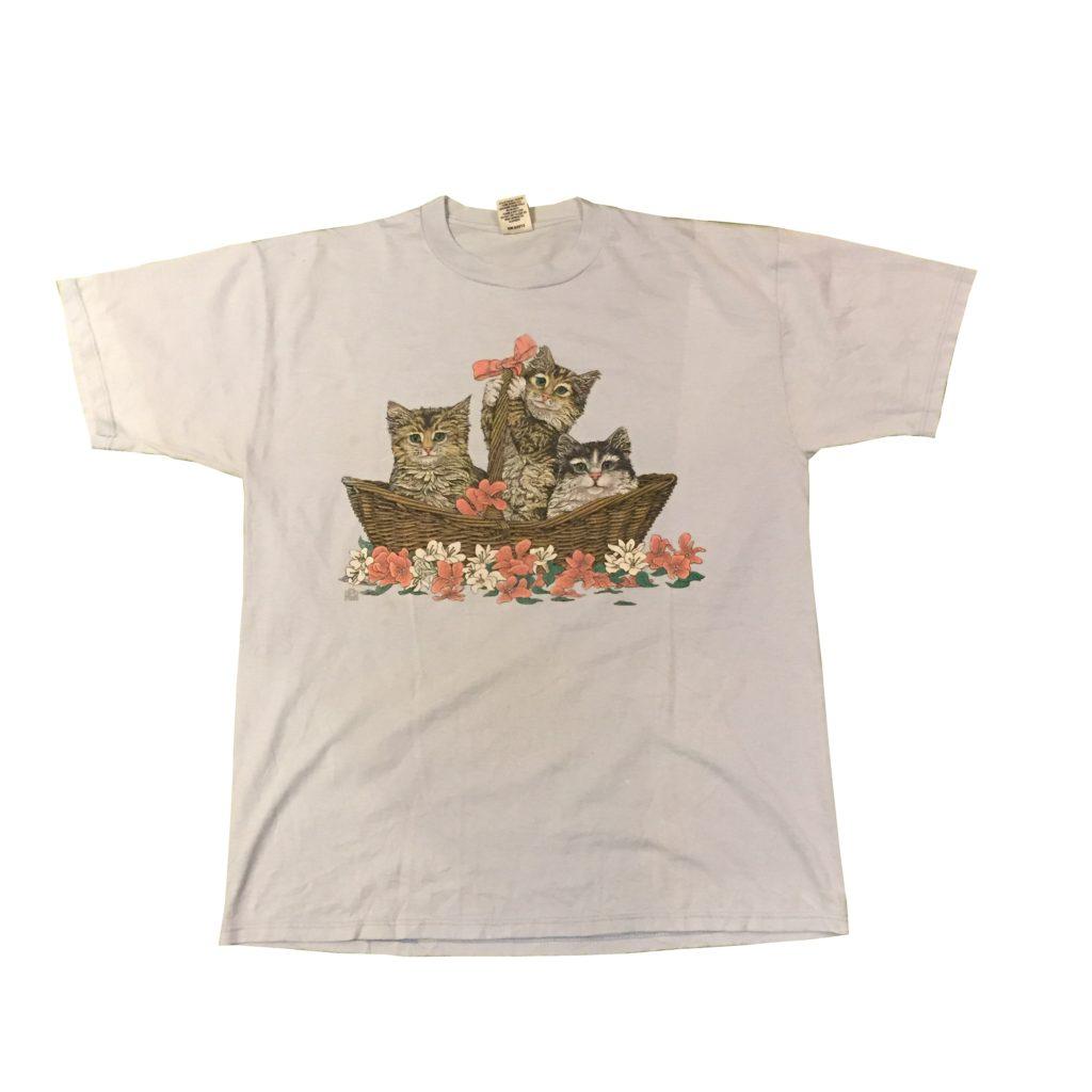 古着 Tシャツ 猫 90s- USA製