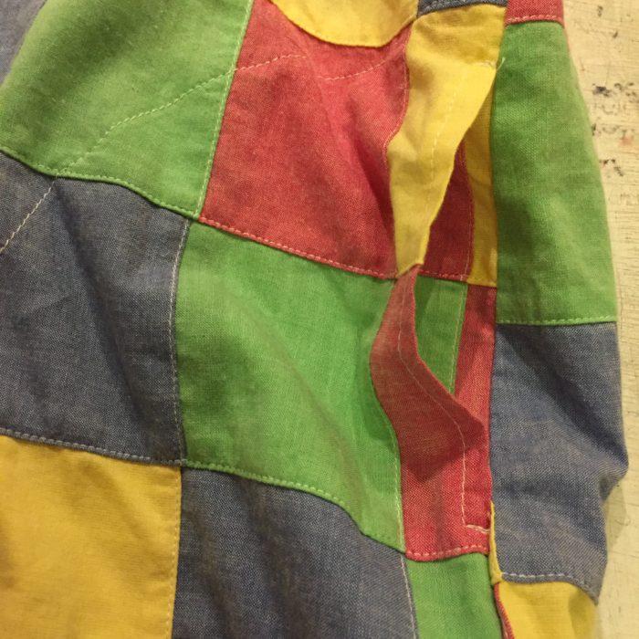 古着 シャツ パッチワーク 80s- USA製 ユニセックス