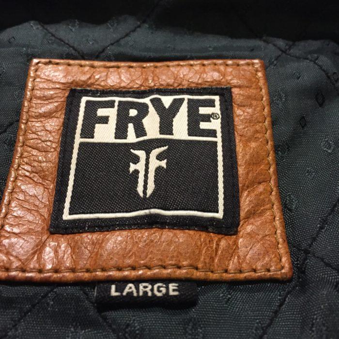 古着 レザージャケット FRYE INDIAの ユニセックス