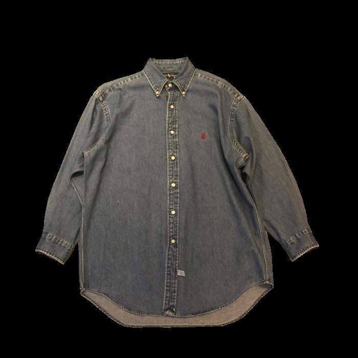 古着 シャツ RalphLauren デニム B.Dシャツ ユニセックス