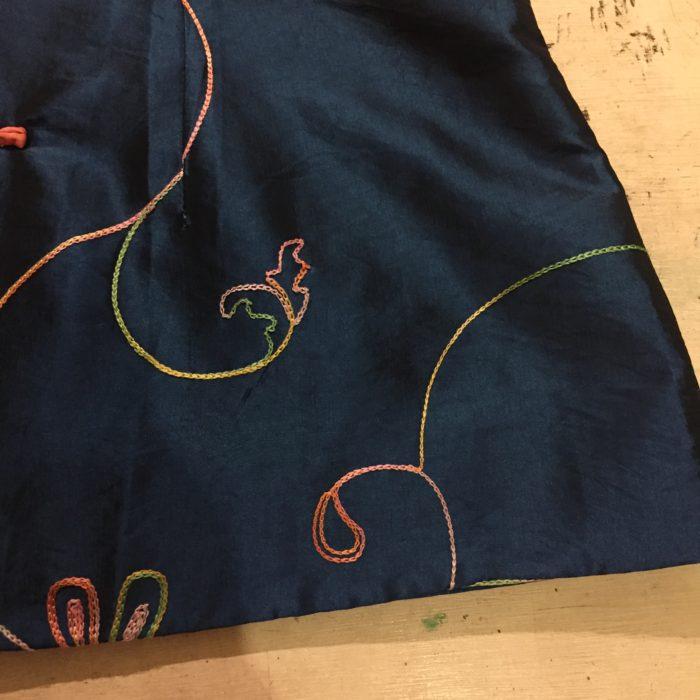 古着 チャイナジャケット サテン 刺繍 ユニセックス