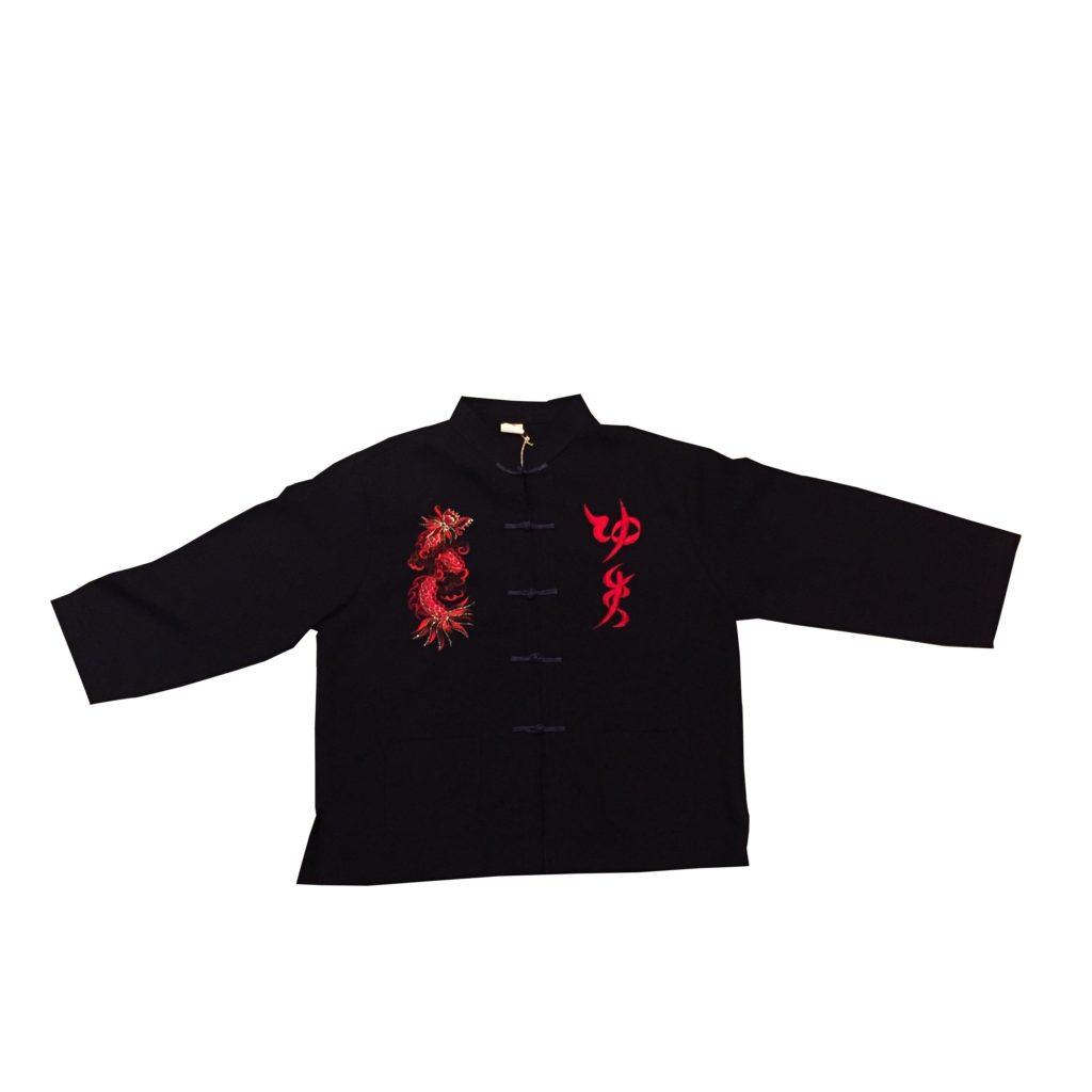 古着 シャツ ボーイズサイズ カンフーシャツ レディース
