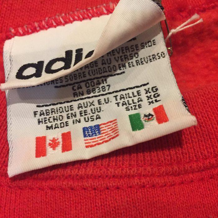 古着 スウェット adidas 90s トレフォイル 刺繍 ユニセックス