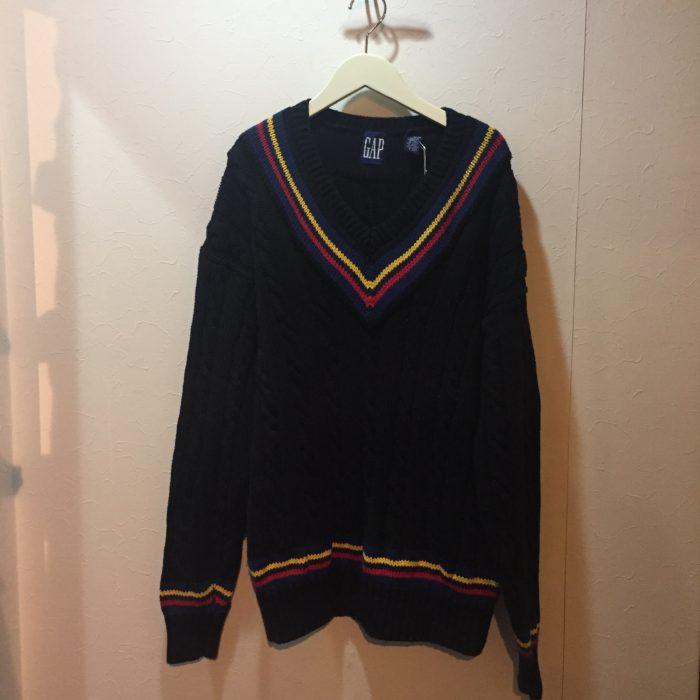 古着 チルデンニットセーター 90s OLDGAP ユニセックス