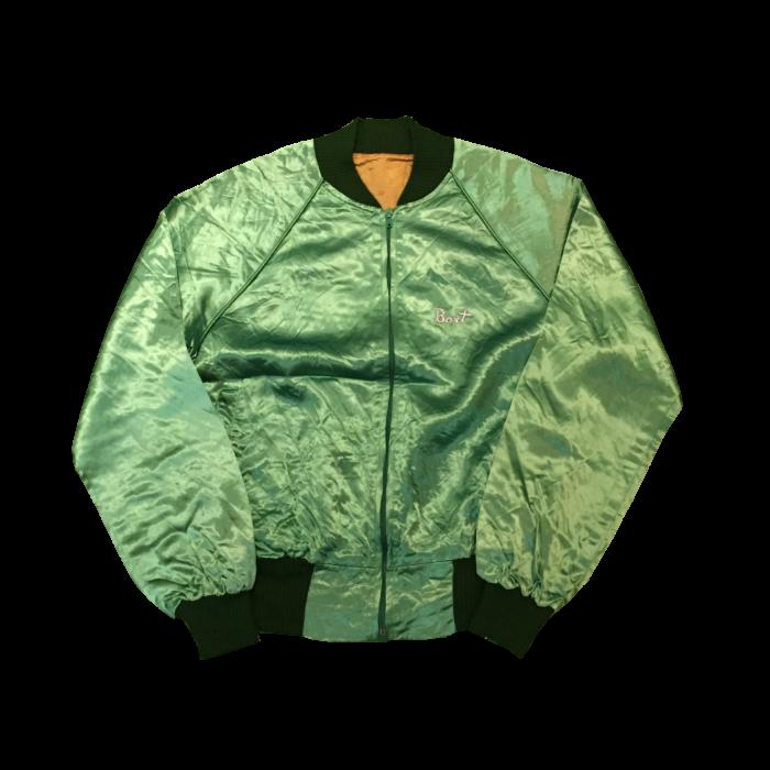 古着 サテン ブルゾン 70s- 刺繍 ユニセックス