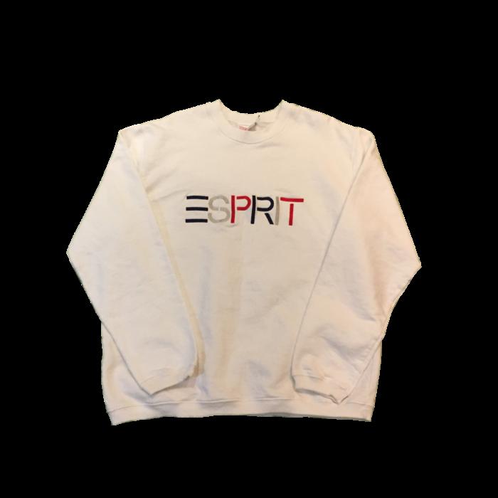 古着 刺繍スウェット ESPRIT 80S-90S PERU製 ユニセックス