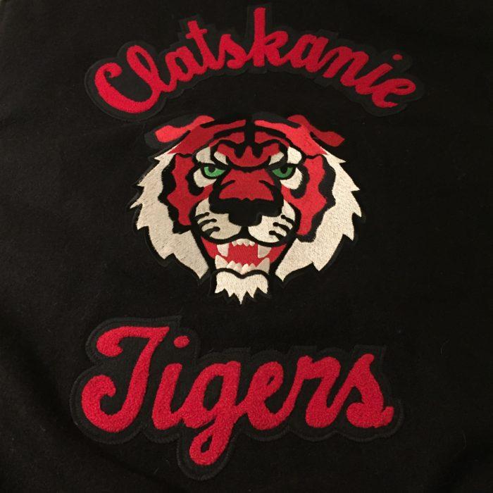 古着 アワードジャケット スタジャン Clatskanie Tigers ウール×レザー ユニセックス