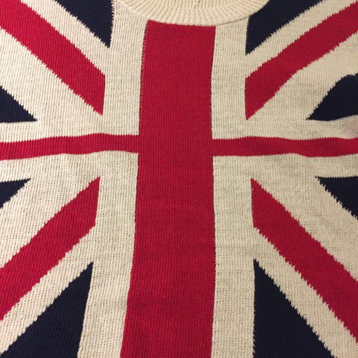 古着 ニットセーター ユニオンフラッグ UK製 レディース