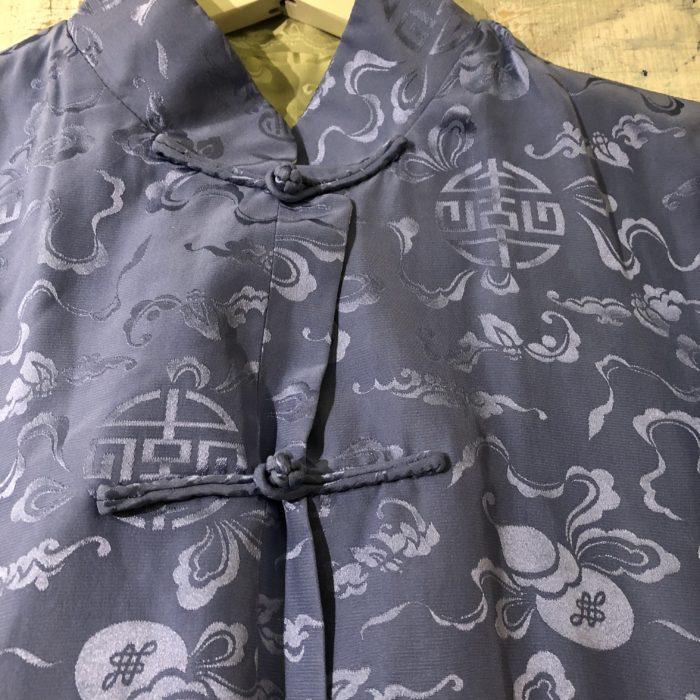 古着 チャイナシャツ リバーシブル 扇&瓢箪 ユニセックス