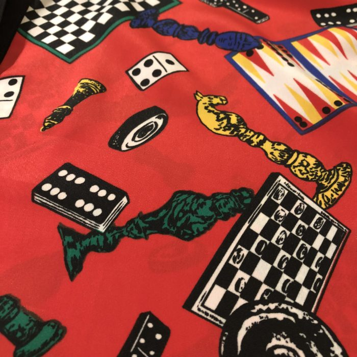 古着 ブラウス チェス柄 シースルー袖 90s- ユニセックス