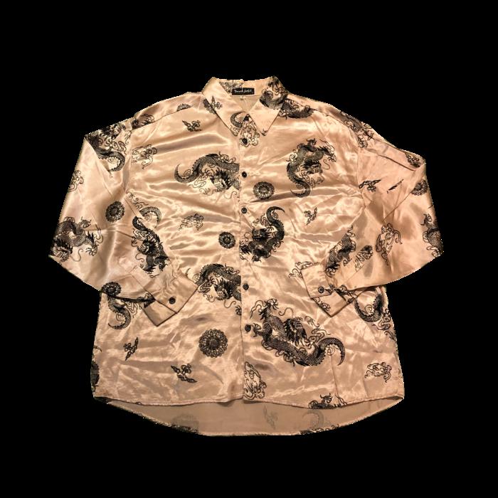 古着 龍 サテンシャツ ユニセックス