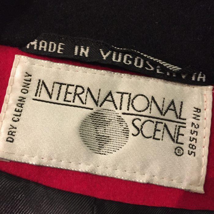 古着 YUGOSLAVIA製 ウール デザイン ジャケット ユニセックス