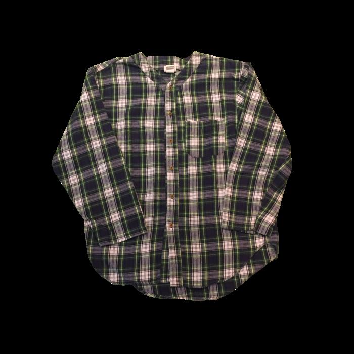古着 パジャマシャツ ネルチェック ベースボールタイプ USA製 ユニセックス