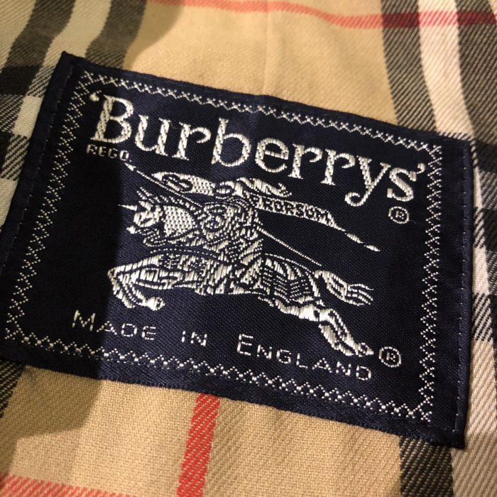 古着 Burberrys PRORSUM シングル ギャバトレンチコート ENGLAND製 ユニセックス レディース