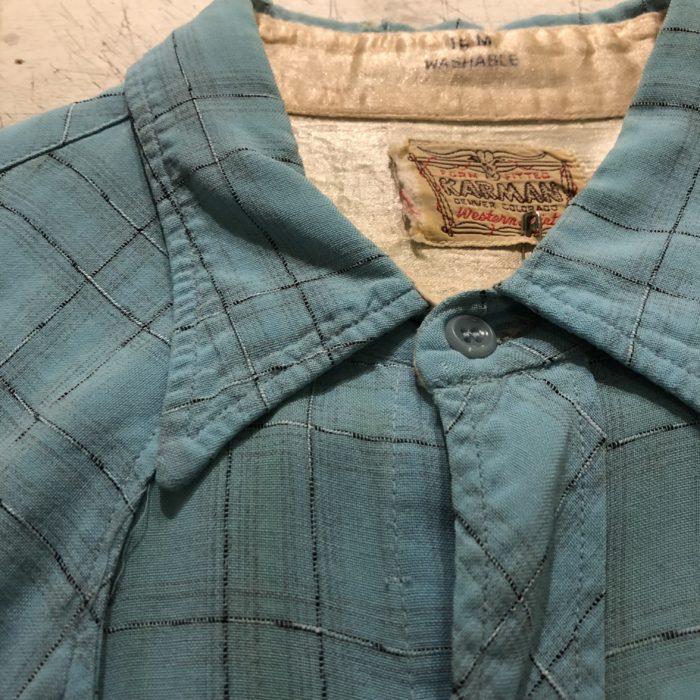古着 Vintage KARMAN ウエスタンシャツ 60S レディース